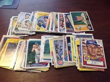 100 different Chicago Cubs cards Baker to Wilkins 1980's - today NM-mint