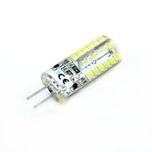 4 pcs g4 5w 48 led cabinet spot light silicone lamp corn bulb cool white 12v dc