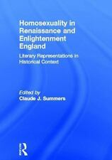 Homosexuality in Renaissance and Enlightenment England: Literary Repre-ExLibrary