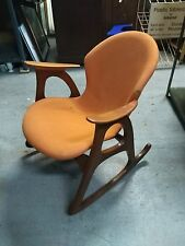 Atomic Teak Rocking Chair by Aage Christiansen