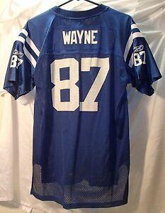 Reggie Wayne Indianapolis Colts Blue Football Reebok Jersey Youth Size XL