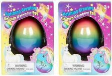 2PC Surprise Growing Unicorn Hatching Rainbow Egg Kids Toys Novelty Asst Colors