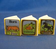 Birchcroft Thimbles -- Miniature Book Style  -- 3  Animal Themes ( Make Offer )