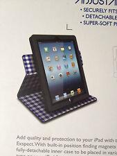 Exspect Gingham Folio APPLE iPad 2/3/4 Stand - Black.