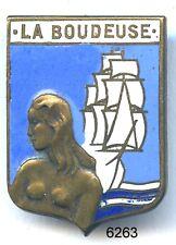6263 - INSIGNE BATEAU LA BOUDEUSE 1939