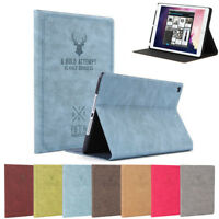 Retro Series Stand Slim PU Leather Smart Case Cover For iPad 6th Generation 2018