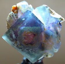 RAREST! ALIEN EYE TURQUOISE COLOR ZONED FLUORITE Crystal From Yaogangxian Mine