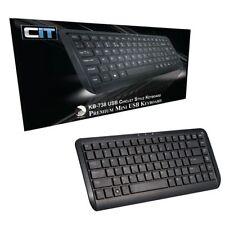 CiT KB-738 Premium Mini USB NOIR à touches caoutchoutées STYLE Clavier