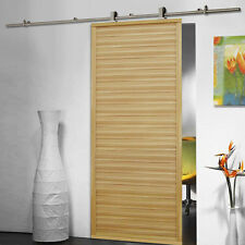 6.6 FT Modern Stainless Steel Sliding Barn Wood Door Closet Hardware Track Set