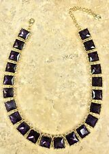 "Cara Couture Jewelry Purple And White Crystal All-Around 17"" Necklace"
