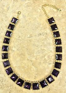 """Cara Couture Jewelry Purple And White Crystal All-Around 17"""" Necklace Hsn"""