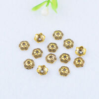 Brass Bead Caps Gold Flower Tail End Beads Fashion Jewelry Making Finding 6x2mm