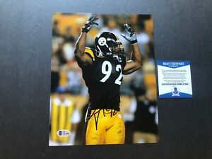 James Harrison Hot! signed autographed Steelers 8x10 photo Beckett BAS coa