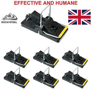 ROCKYSTEEL Mouse Traps, Reusable Humane Snap Mice Traps, Rodent & Pest Killer