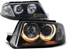 Headlights for VW PASSAT 3BG B5 FL 00-05 Angel Eyes Black UK RHD/LHD LPVW46-ED X