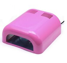 36W Professional 110V Pink UV Nail Polish Nail Gel Curing Timer Light Dryer USA