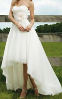 Fashion 2012 A-line Hi-Lo Organza Exquisite Wedding dress/Bridal Nuptial dress
