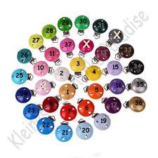 10 x Schnullerkettenclip / Schnullerclip / Holzclip / Babyclip / Farbwahl