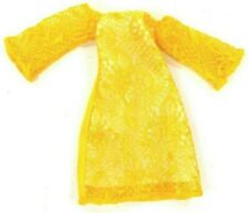 """Barbie & Friends Vintage Clone Yellow Floral Lace Dress For 9"""" Doll"""