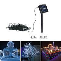 50 100 LED Solar Power Fairy Lights String Garden Outdoor Party Wedding Decor S5