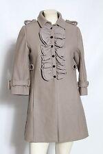 MANOUSH Anthropologie Grey Ruffled Tux Wool Coat Jacket - Size 6