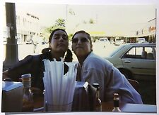 Vintage 1990's PHOTO Two Friends Posed For Camera At A Table Outside At A Diner
