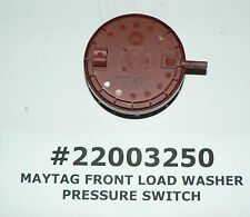 GENUINE OEM MAYTAG AMANA FRONT LOAD WASHER PRESSURE SWITCH #22003250