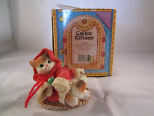 Enesco Calico Kittens Figurine All Wrapped Up in Warmth #274879 Kitty Cat