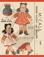 "Reproduction Vintage Little Lulu 17"" Cloth Doll Sewing Pattern"