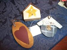 HANDMADE WOODEN  ORNAMENTS COUNTRY LOOK CHRISTMAS NICE