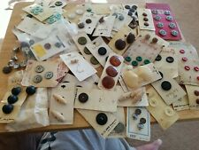 New listing Lot of Vintage Sewing Buttons & Button Cards