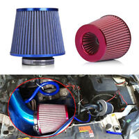 "2 Pcs Auto 3"" 75mm Mushroom Head High Flow Intake Air Filter Dual Funnel Adapter"