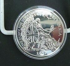 UK GB 2007  Britannia £2  Pounds. 1 oz Ounce Fine Silver (.958).  Encapsulated