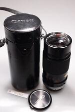 CANON FD 200mm F4 S.S.C. LENS W/CASE&CAPS MINT