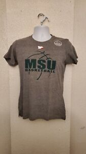 Michigan State Spartans Basketball T Shirt Youth Gray