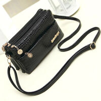 Women Leather Zipper Crossbody Messenger Shoulder Bag Purse Handbag Wallet