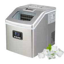 Zokop Portable Digital Quick Mini Ice Maker Machine Countertop Cube 40LB Sliver