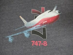 NWOT - BOEING 747 -  XL GRAY T-SHIRT - D446
