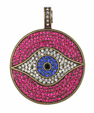 Magnetic Enhancer for necklace (Brasstone/Fuchsia) Kirks Folly All Seeing Eye