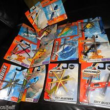 14 LOT MATCHBOX HELICOPTERS SKY BUSTERS HERO CITY MILITARY FIRE RESCUE COPTER +