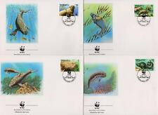 Vanuatu 1988 WWF Endangered Species - Dugong - 4 First Day Covers FDC - (22)
