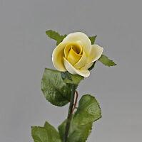 9944362 Porzellan Stiel-Rose gelb Rosenblüte Kämmer L48cm D6cm