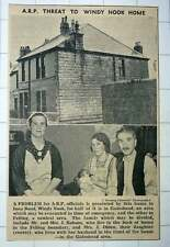 1939 Mr And Mrs J Robson And Mrs J Olden Threat To Windy Nook Home Iona Road