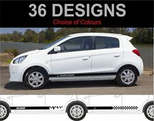 Mitsubishi Mirage Side Stripes decals stickers Graphics 2 off