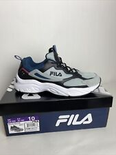 FILA Recollector Mens Trail Running Athletic Shoes Grey/Black/Blue  -NEW-