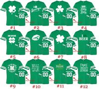 Customized St. Patricks Day Tee Football Jersey Shirts Text Name Number St Patty