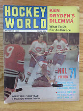 Hockey World October 1971 KEN DRYDEN MONTREAL CANADIENS Magazine
