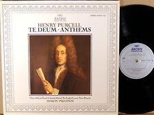 ARCHIV (DGG) Purcell PRESTON Te Deum/Anthems 410 657-1 NM/NM-