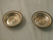 A Silver Plated Pair Of Coasters Old Sheffield 1800 Unmarked Sweet Construction