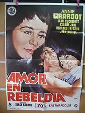 A3964 Amor en rebeldia Annie Girardot,  Jean Rochefort,  Claude Jade,  Bernard L